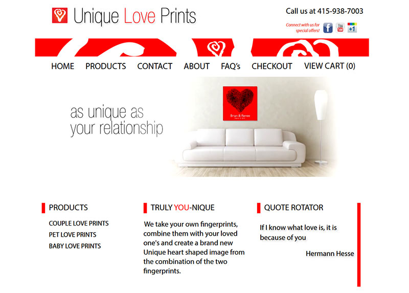 Unique Love Prints